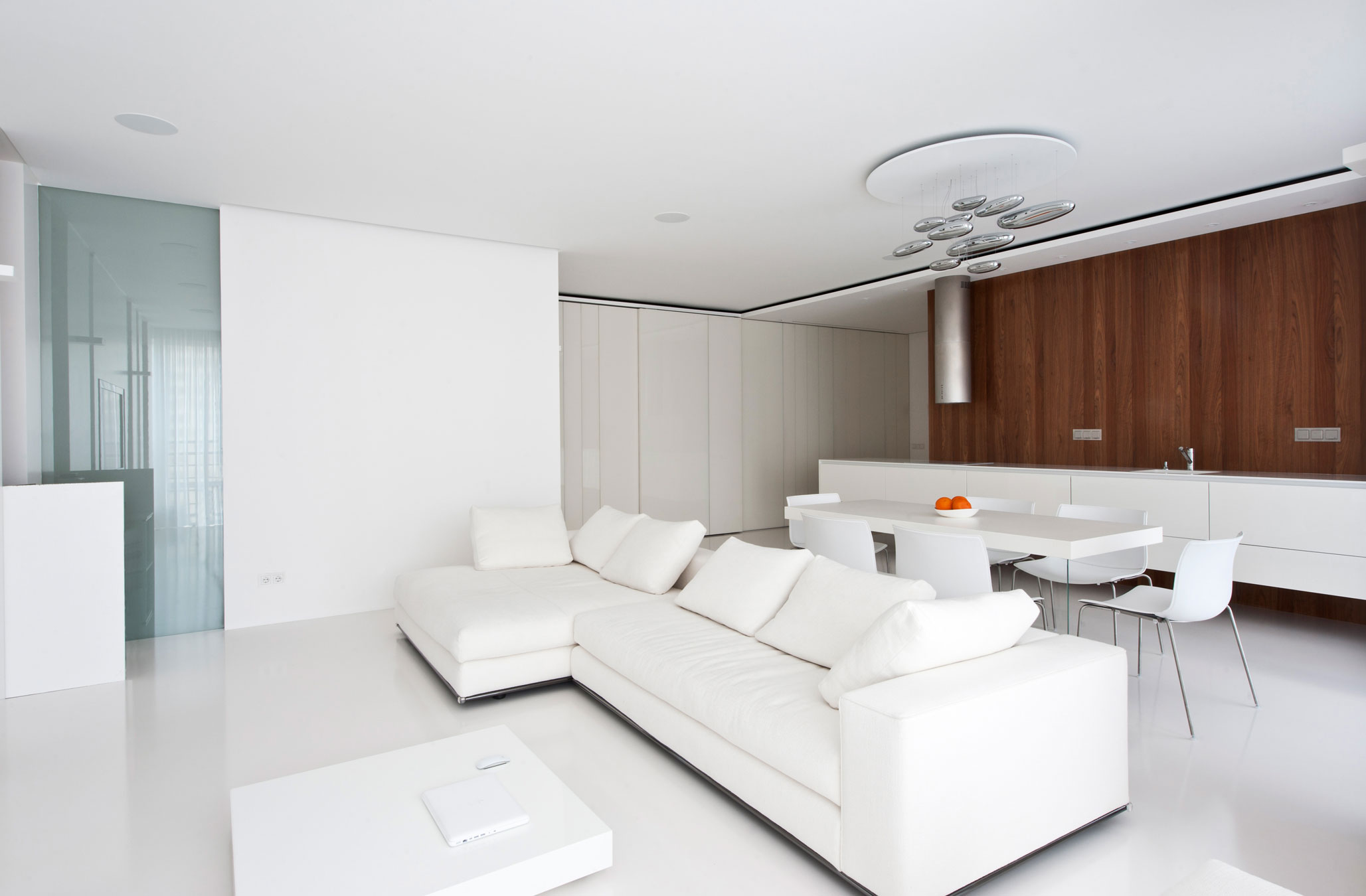 Modern White Apartment Interior by Alexandra Fedorova 1