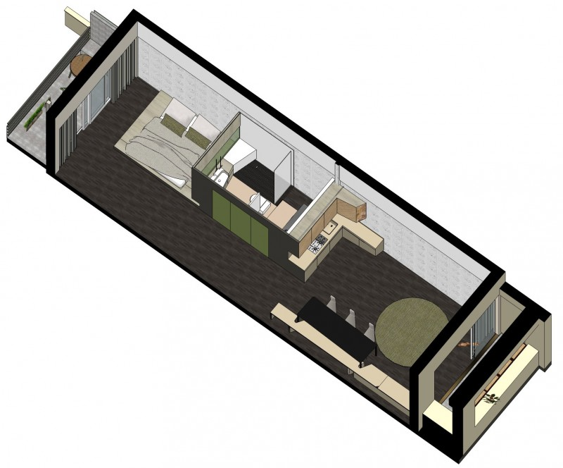 Stunning Long Narrow Home Designs Photos - Design Ideas for Home ...