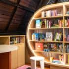 Children's Library lit cubby shelves