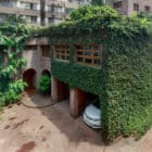 Architect's Family Home & Studio ivy covered exterior